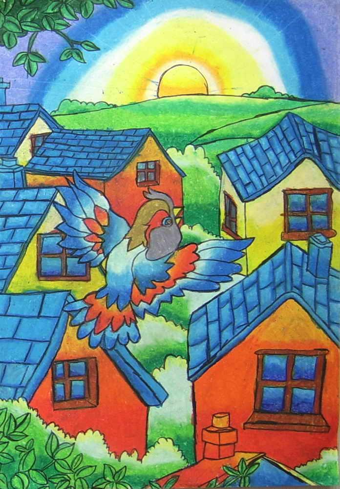 全国儿童画获奖作品图片分享_我的梦中国梦分享